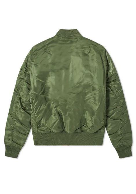 ma1 jacket man green in nylon ALPHA INDUSTRIES | Jackets | 10010101