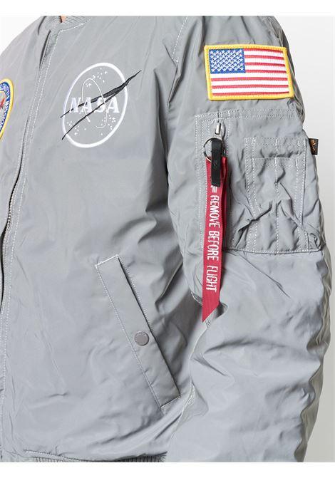 ma 1 jacket reflective man gray ALPHA INDUSTRIES | Jackets | 128112571