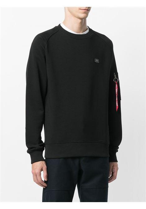 crew neck sweatshirt man black in cotton ALPHA INDUSTRIES | Sweatshirts | 15832003