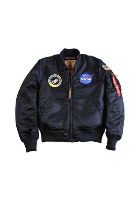 ma1 vf nasa jacket man blue in nylon ALPHA INDUSTRIES | Jackets | 16610707
