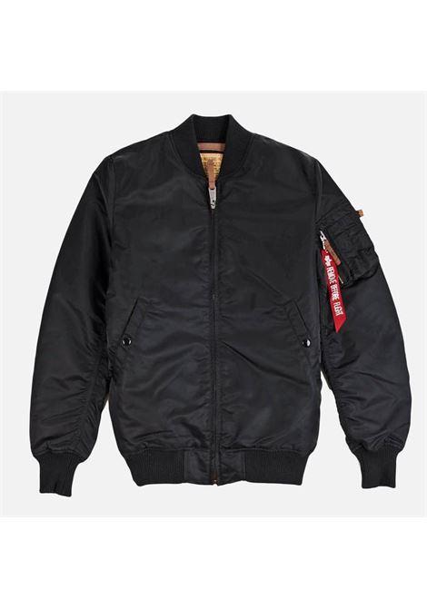 ma1 vf 59 long jacket man black in nylon ALPHA INDUSTRIES | Jackets | 16810003