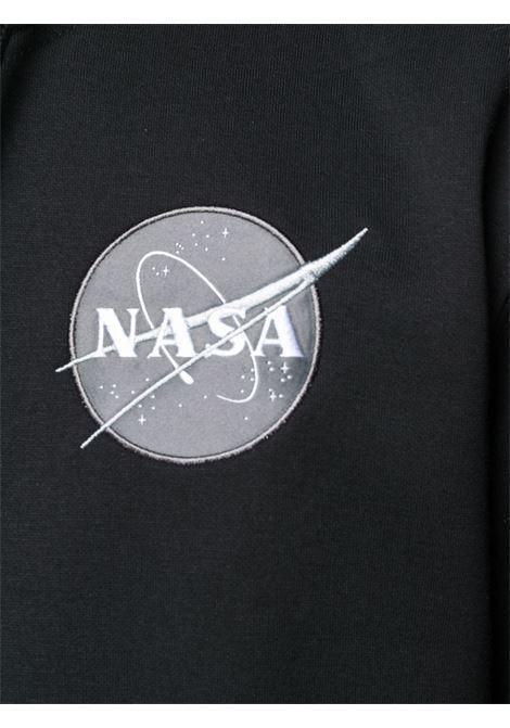 logo hoodie man black in cotton ALPHA INDUSTRIES | Sweatshirts | 17831703