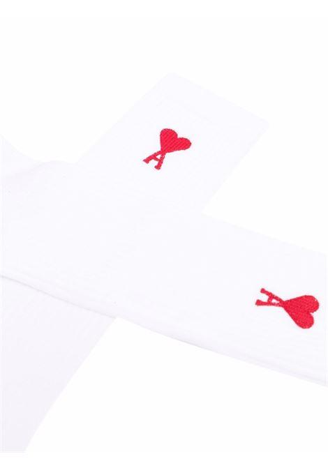 Logo socks White Man AMI - ALEXANDRE MATTIUSSI | Socks | A21A601.377100