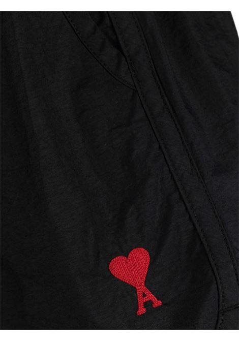 Ami Swimshort Black Man  AMI - ALEXANDRE MATTIUSSI | Swimwear | A21HBW01.393001