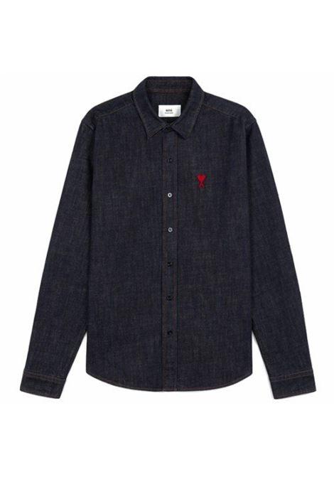 Ami de coeur shirt Denim Cotton Man AMI - ALEXANDRE MATTIUSSI | Shirts | A21HC014.410402