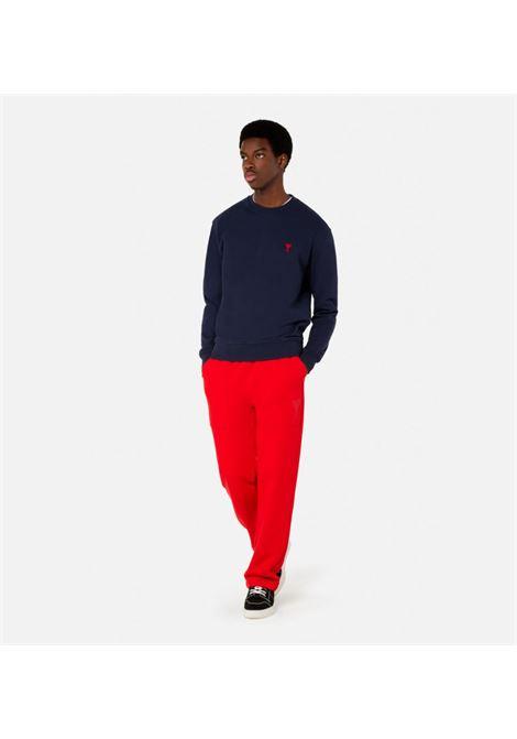 Ami de coeur sweatshirt blue Organic Cotton Man AMI - ALEXANDRE MATTIUSSI | Sweatshirts | A21HJ007.730410