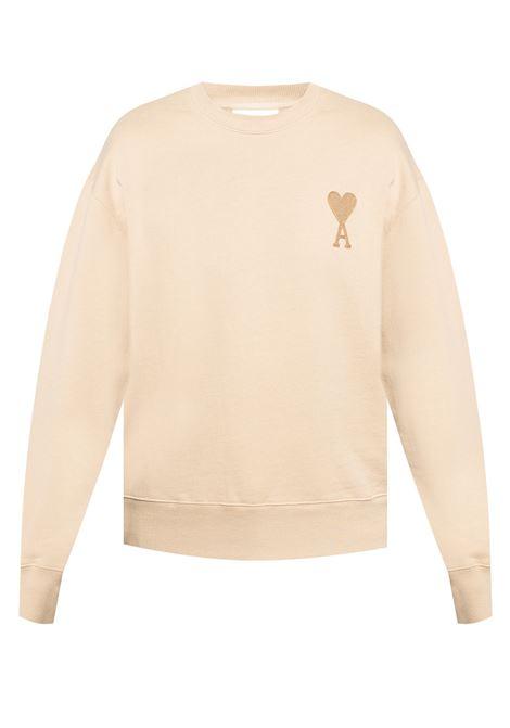 Ami de coeur sweatshirt Beige in Cotton Man AMI - ALEXANDRE MATTIUSSI | Sweatshirts | A21HJ028.747250