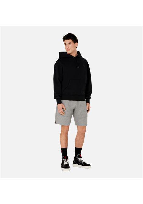 Hoodie ami de coeur sweat Black in Cotton Man AMI - ALEXANDRE MATTIUSSI | Sweatshirts | A21HJ058.747001