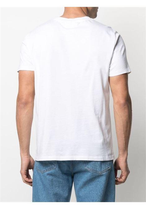 T-shirt ami de coeur bianca uomo cotone biologico AMI - ALEXANDRE MATTIUSSI | T-shirt | BFHJ108.723100