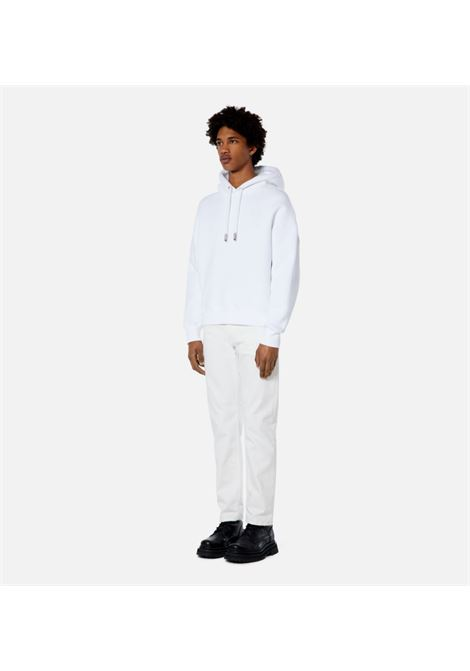 felpa ami coeur tch uomo bianca in cotone AMI - ALEXANDRE MATTIUSSI | Felpe | H21HJ067.749100