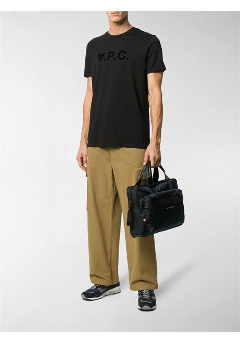 logo t-shirt man black in cotton A.P.C. | T-shirts | COBQX-H26943LZZ