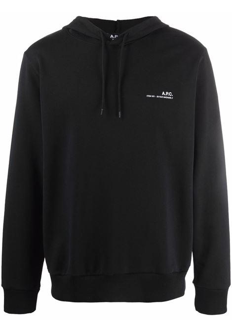 Logo hoodie Black Man Cotton A.P.C. | Sweatshirts | COEAS-H27672LZZ