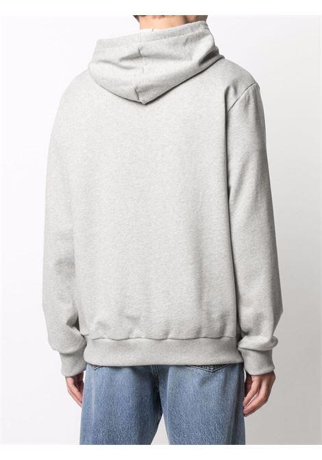 logo hoodie man gray in cotton  A.P.C. | Sweatshirts | COEAS-H27672PLB