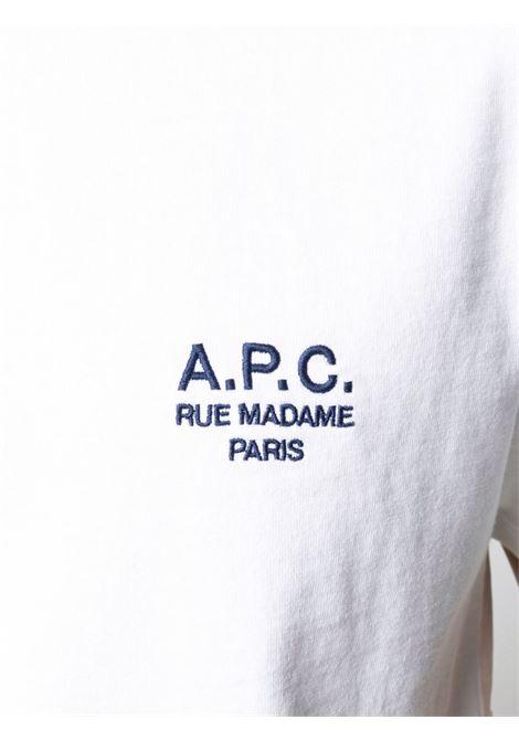T-shirt logo Bianca in Cotone Uomo A.P.C. | T-shirt | COEAV-H26840AAB