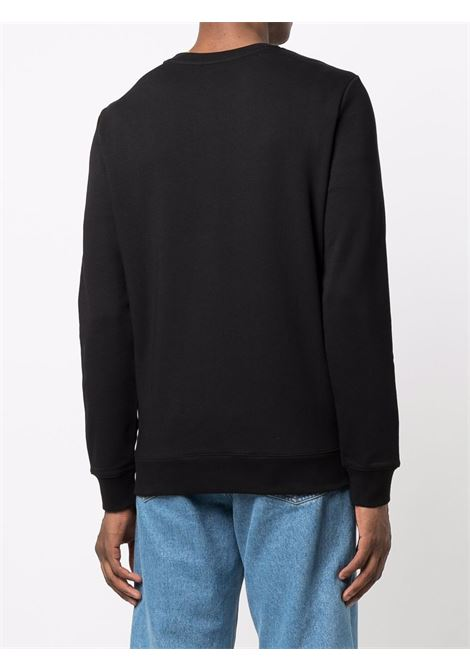 felpa con logo uomo nera in cotone A.P.C. | Maglieria | COECQ-H27378LZZ