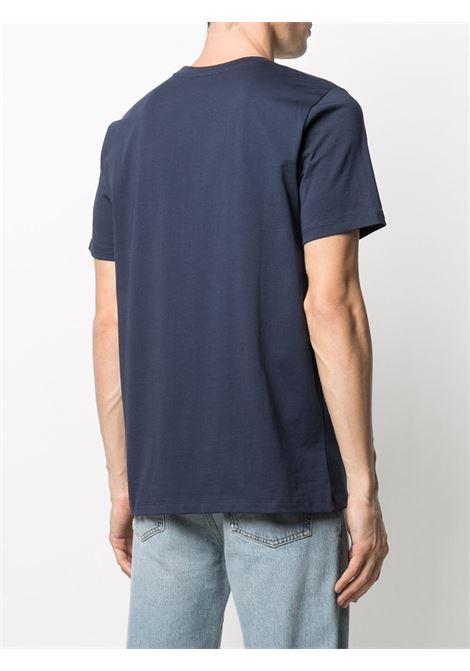 T-shirt con logo Blu in Cotone Uomo A.P.C. | T-shirt | COEOP-H26904IAK