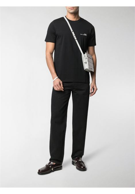 Logo t-shirt Black Man Cotton A.P.C. | T-shirts | COEOP-H26904LZZ