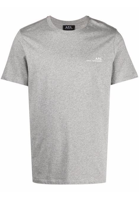 t-shirt con logo uomo grigia in cotone A.P.C. | T-shirt | COEOP-H26904PLA