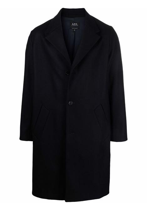 cappotto robin uomo blu scuro A.P.C. | Cappotti | WOAJS-H01456IAH