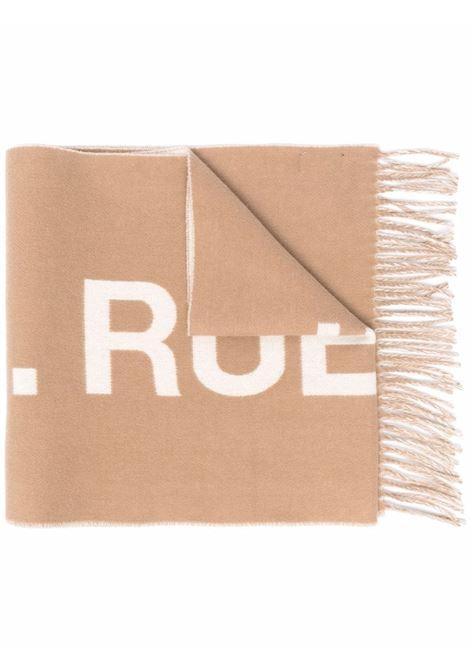 sciarpa con logo unisex cammello in lana A.P.C. | Sciarpe | WOANE-M15163CAB