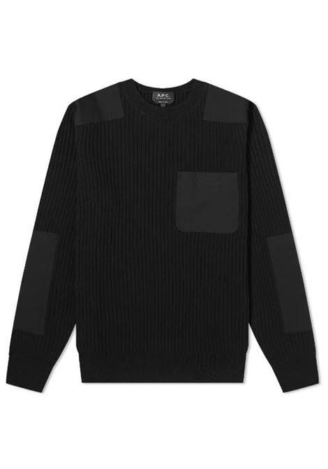 pull romain man black in wool A.P.C. | Sweaters | WVBAK-H23052LZZ
