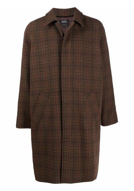 cappotto austin uomo marrone A.P.C. | Cappotti | WVBAY-H01460CAB