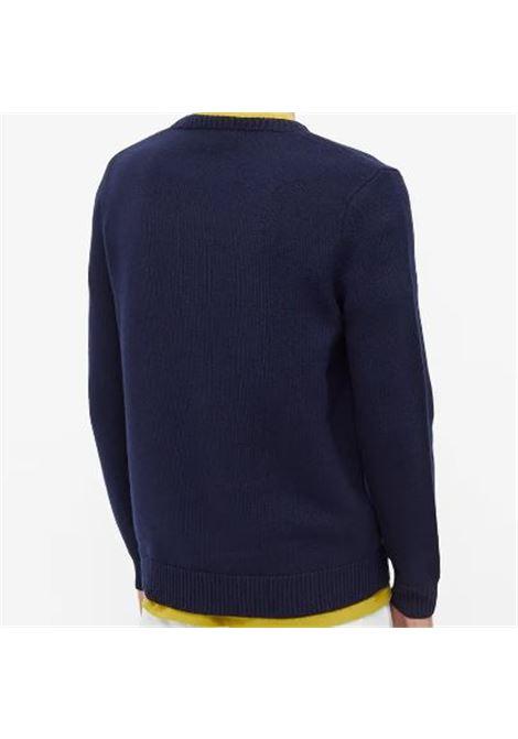 maglione con logo uomo blu in lana A.P.C. | Maglieria | WVBAZ-H23059IAK