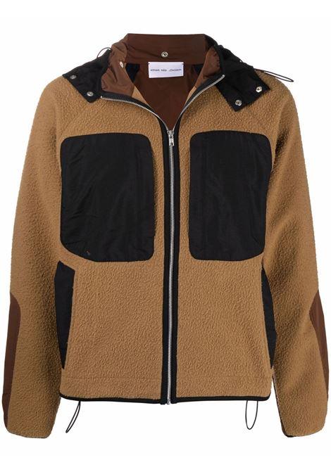 giacca con cappuccio uomo marrone in lana ARNAR MÁR JÓNSSON | Giacche | AW2107CARAMEL&CHOCOLATE