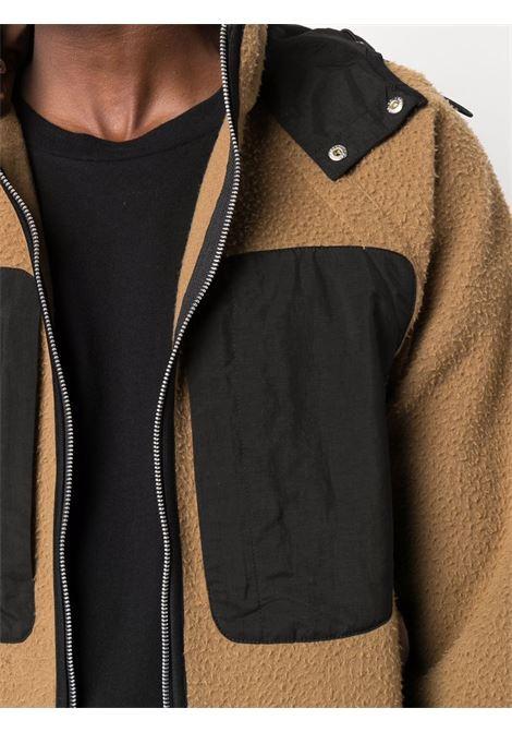 hooded jacket man brown in wool ARNAR MÁR JÓNSSON | Jackets | AW2107CARAMEL&CHOCOLATE