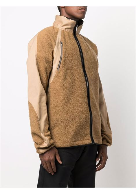 wool ventille panelled tracktop man brown ARNAR MÁR JÓNSSON | Jackets | AW2112CARAMEL