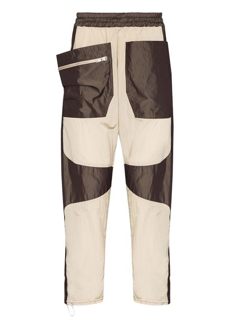 track trousers man beige in polyester ARNAR MÁR JÓNSSON | Trousers | AW2140BEIGE&CHOCOLATE