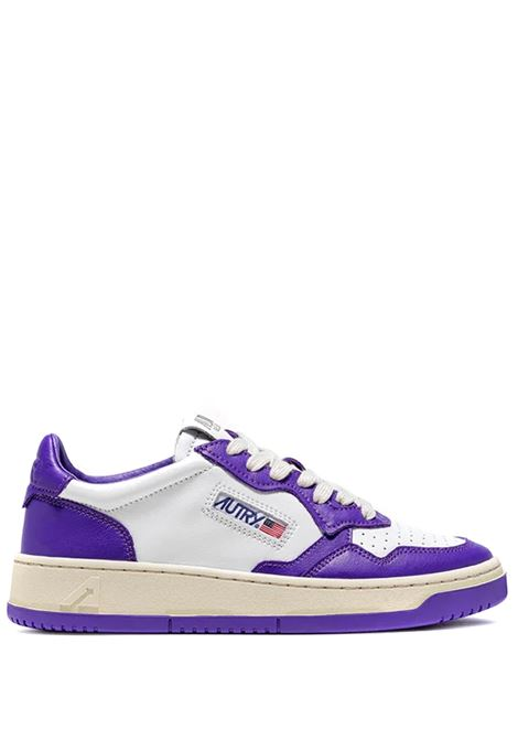 sneakers aulm wb05 uomo bianche e viola in pelle AUTRY | Sneakers | AULMWB05