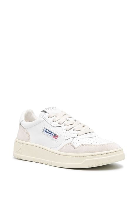 sneakers aulw ls33 women white in leather AUTRY   Sneakers   AULWLS33