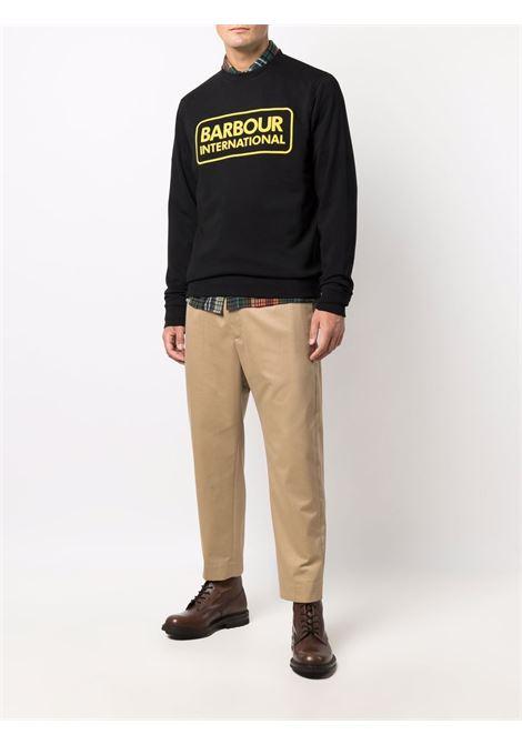 logo sweatshirt man black in cotton BARBOUR | Sweatshirts | M0L0156BK31