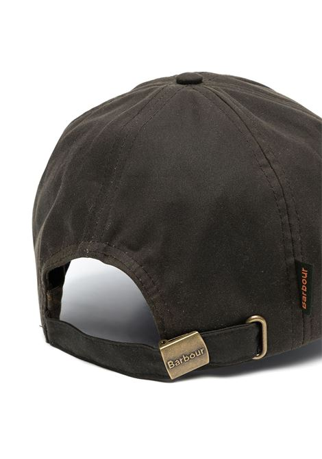 hat with visor unisex olive in cotton BARBOUR | Hats | MHA0005OL71