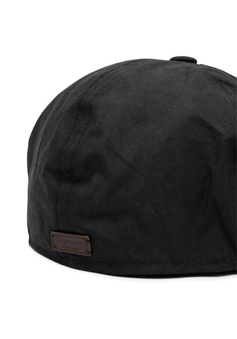 cappello portland uomo nero in cotone BARBOUR | Cappelli | MHA0566BK31
