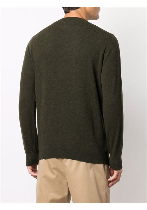 wool sweater man olive green BARBOUR | Sweaters | MKN0345GN71