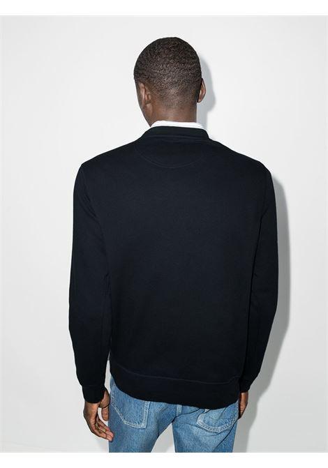 logo sweatshirt man blue in cotton BARBOUR | Sweaters | MOL0101NY91