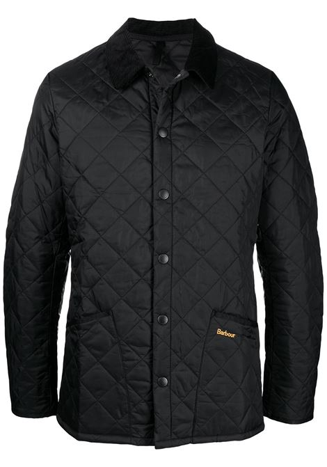 quilted jacket man black BARBOUR | Jackets | MQU0240BK11