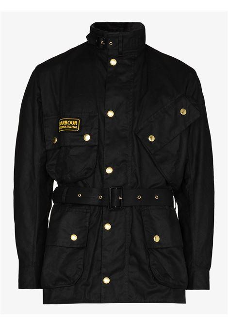international jacket man black in cotton BARBOUR | Jackets | MWX0004BK51