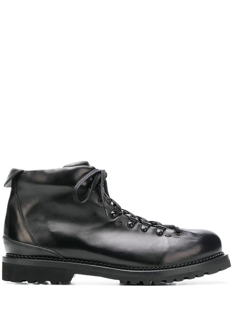 canalone boots man black in leather BUTTERO | Laced Shoes | B6601DIV-UG1
