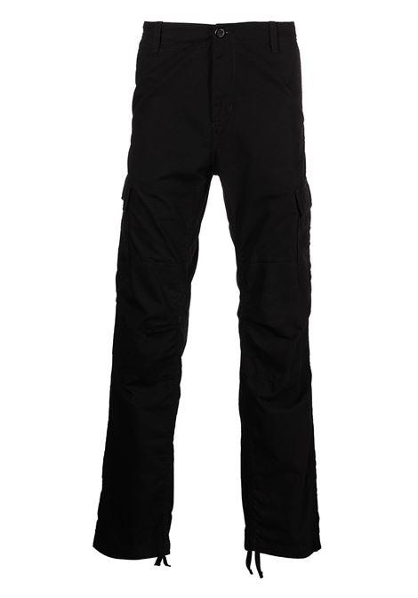aviation cargo man black in cotton CARHARTT WIP | Trousers | I00957889.02