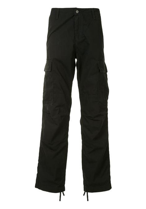 cargo pants uomo neri in cotone CARHARTT WIP | Trousers | I01587589.02