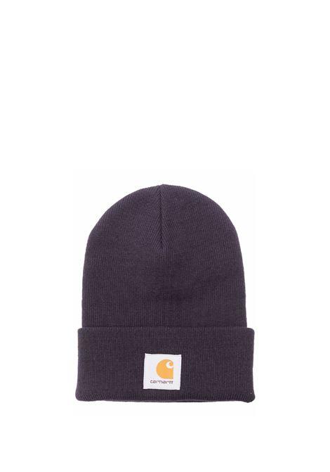 logo hat unisex dark iris acrylic CARHARTT WIP | Hats | I0202220EO.XX