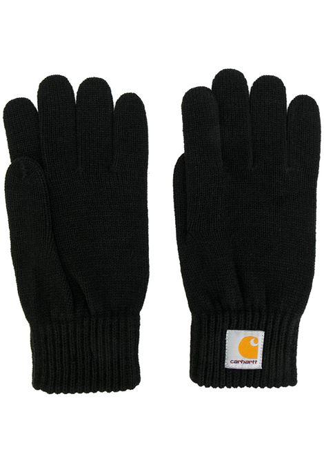 guanti con logo uomo neri CARHARTT WIP | Guanti | I02175689.XX