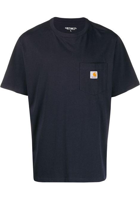 t-shirt taschino uomo blu in cotone CARHARTT WIP | T-shirt | I0220911C.XX