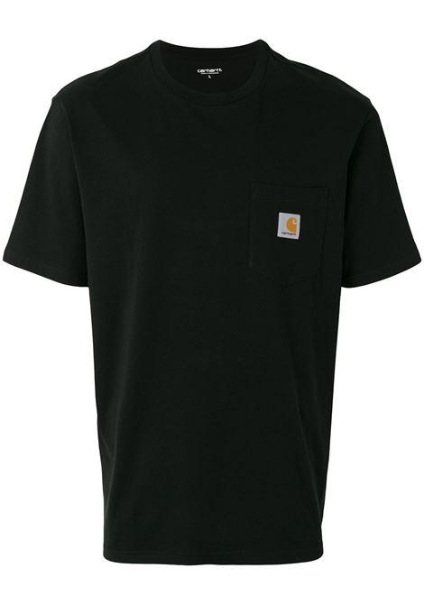 t-shirt taschino uomo nera in cotone CARHARTT WIP | T-shirt | I02209189.XX