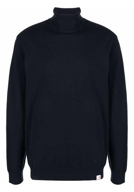 maglione a collo alto uomo blu in lana CARHARTT WIP | Maglieria | I0233681C.XX