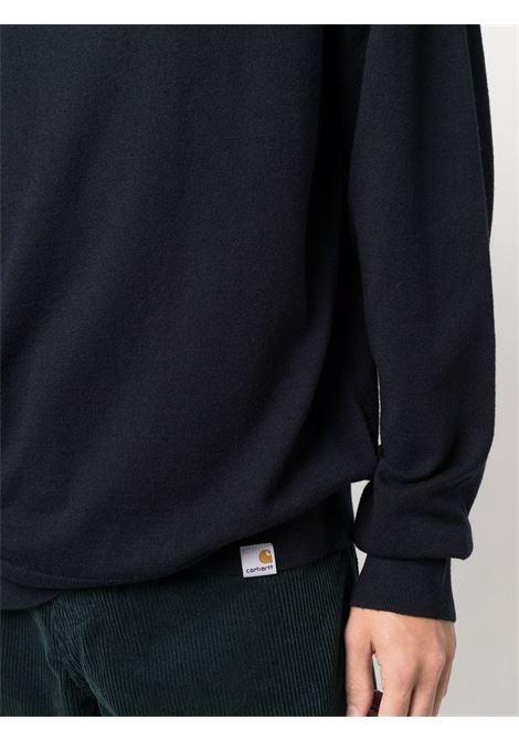 turtleneck sweater man blue in wool CARHARTT WIP | Sweaters | I0233681C.XX