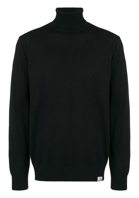 maglione a collo alto uomo nero in lana CARHARTT WIP | Maglieria | I02336889.XX